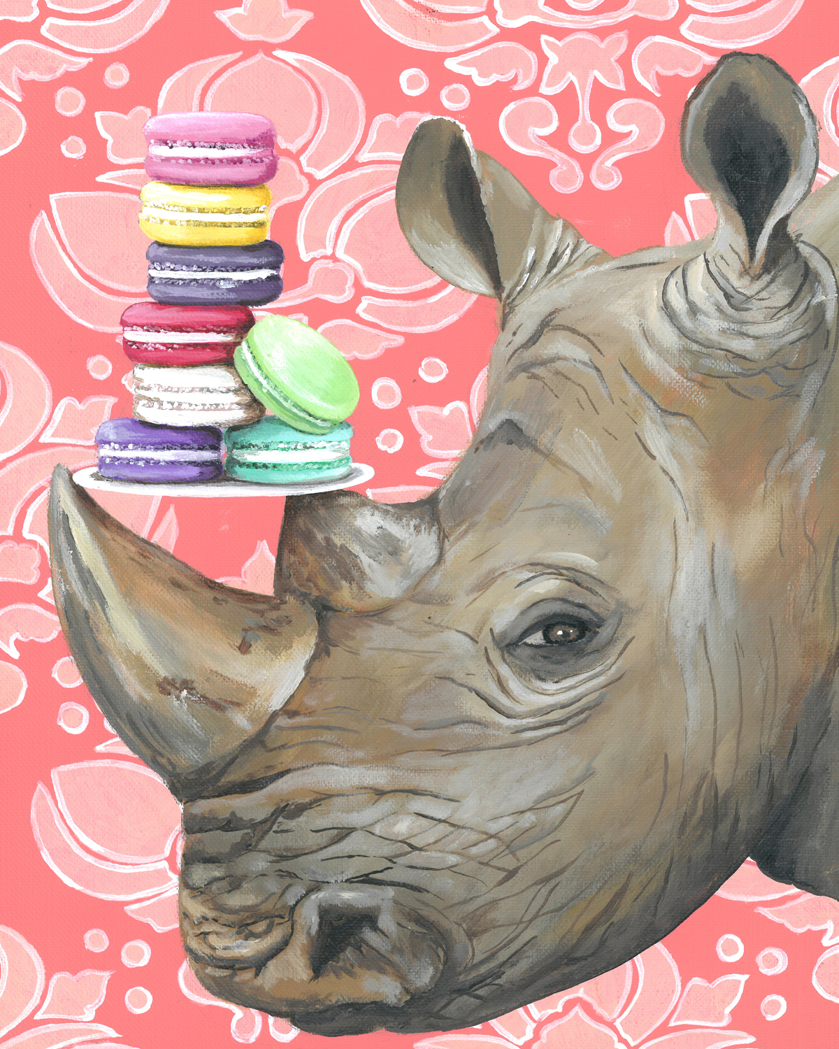 GreenBox Art, Macaroon Rhino