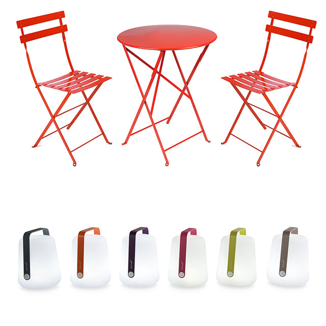 Fermob Bistro Set and Lanterns