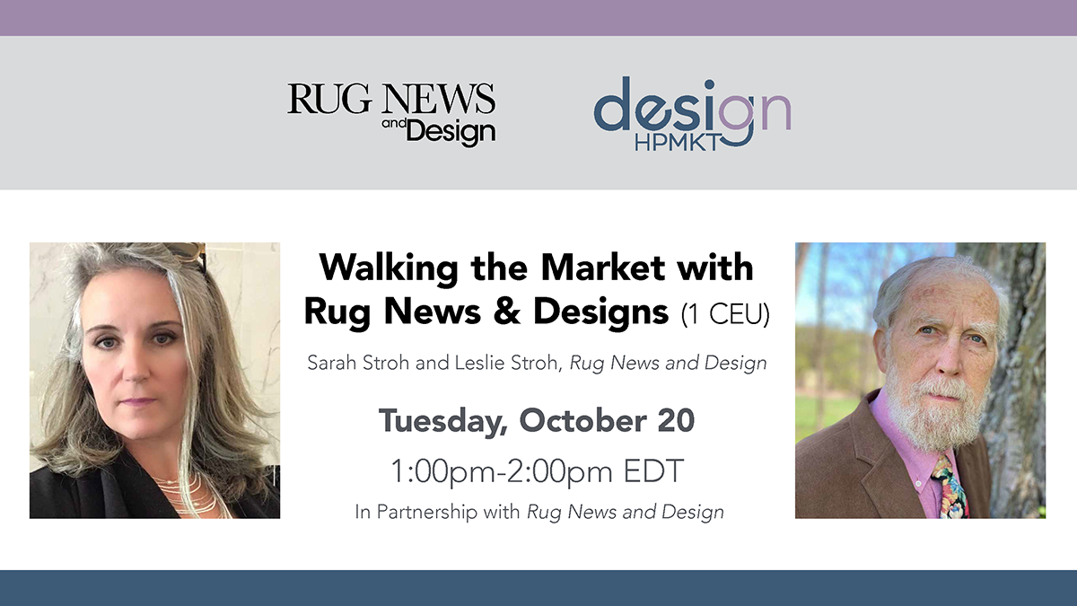 Walking the Market with Rug News & Design HPF20